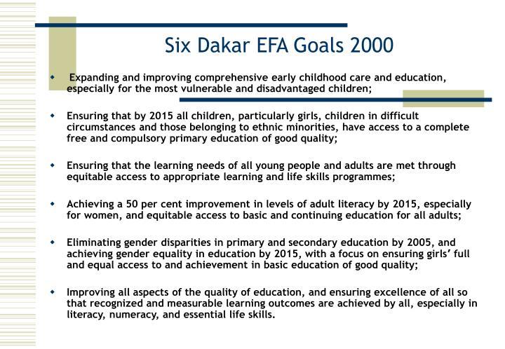 Six Dakar EFA Goals 2000