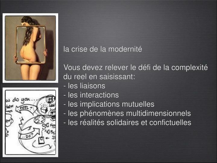 la crise de la modernité