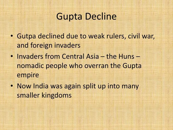 Gupta Decline