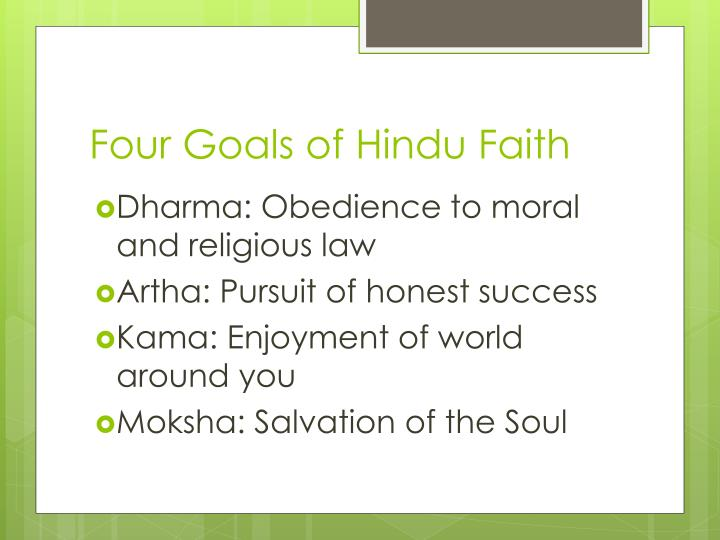 Four Goals of Hindu Faith