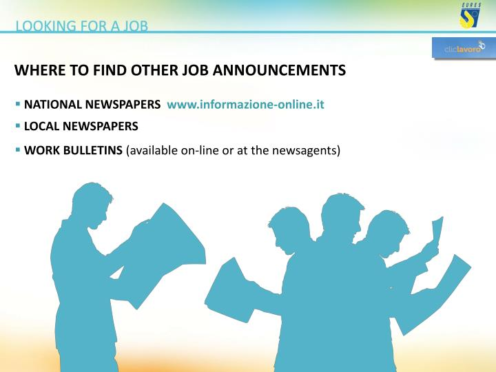 WHERE TO FIND OTHER JOB ANNOUNCEMENTS