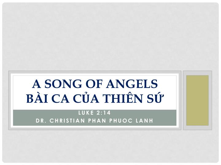 a song of angels b i ca c a thi n s