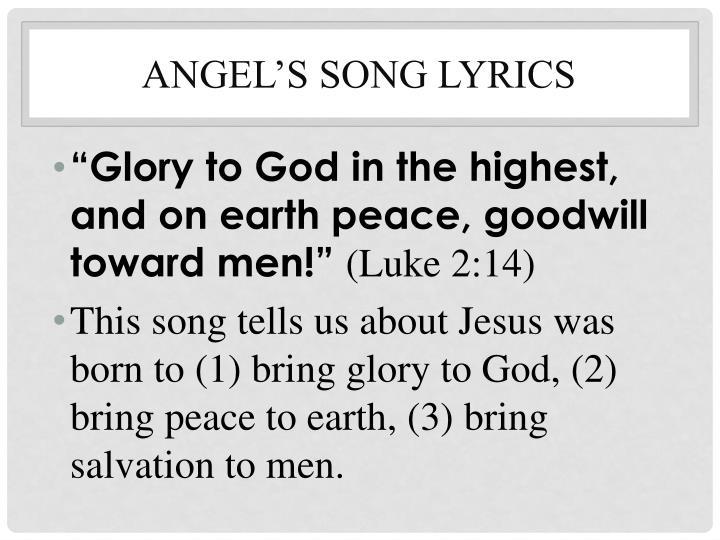Angel's Song lyrics