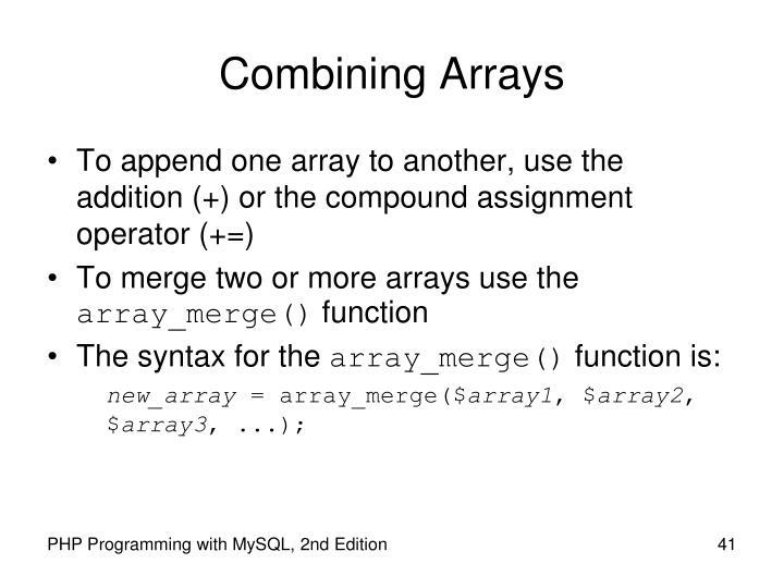 Combining Arrays