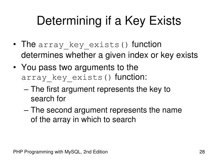 Determining if a Key Exists