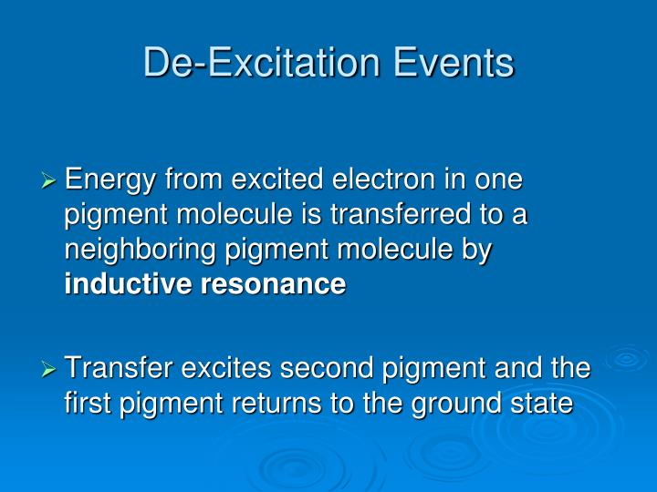 De-Excitation Events