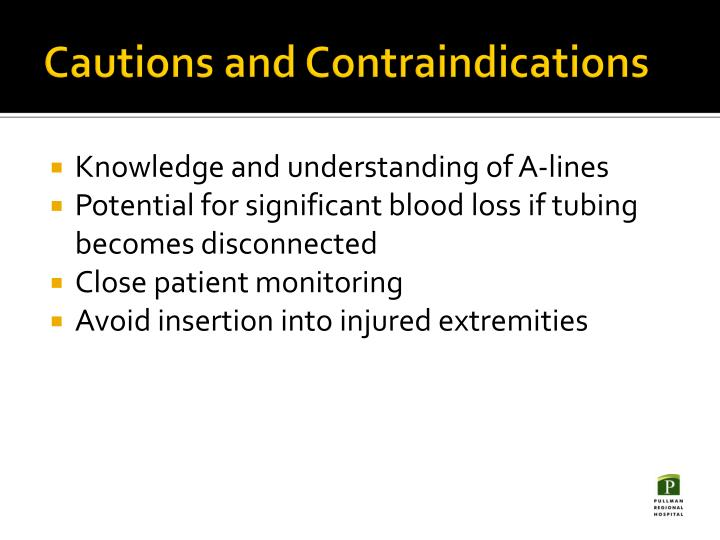 Cautions and Contraindications