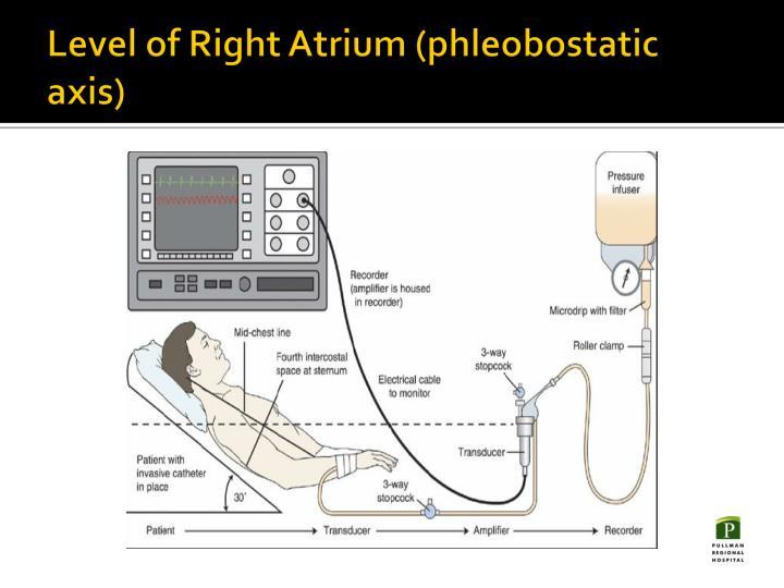 Level of Right Atrium (phleobostatic axis)