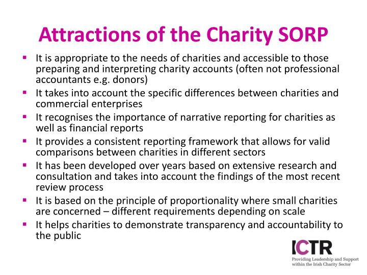Attractions of the Charity SORP