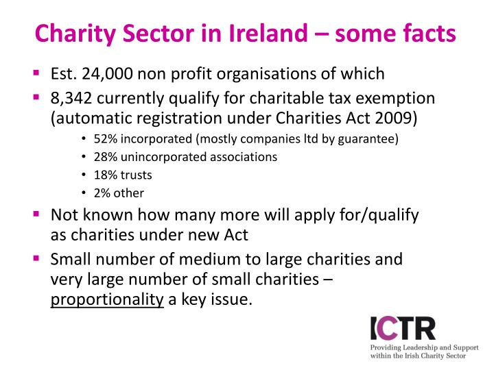 Charity sector in ireland some facts