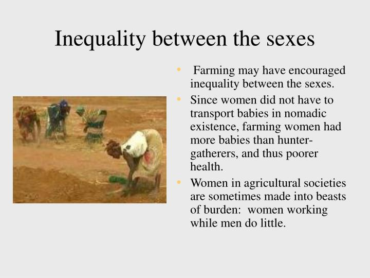 Inequality between the sexes