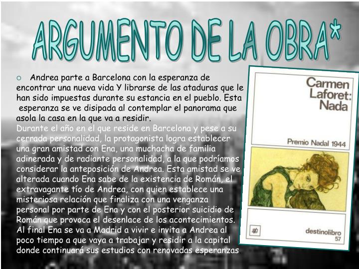 ARGUMENTO DE LA OBRA*