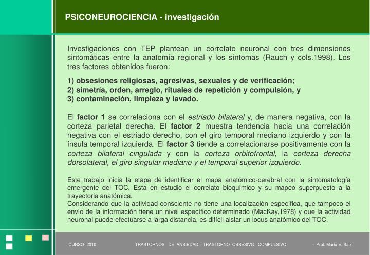 PSICONEUROCIENCIA - investigación