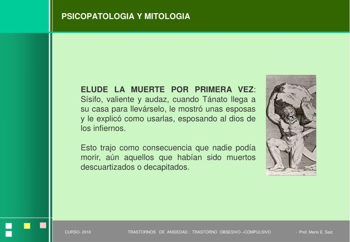 PSICOPATOLOGIA Y MITOLOGIA
