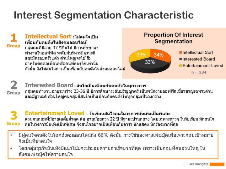 Interest Segmentation Characteristic