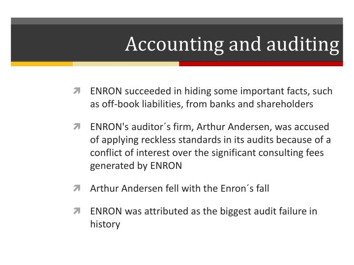 Accounting and auditing
