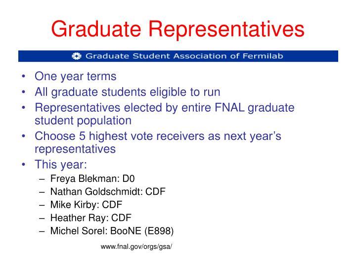 Graduate Representatives