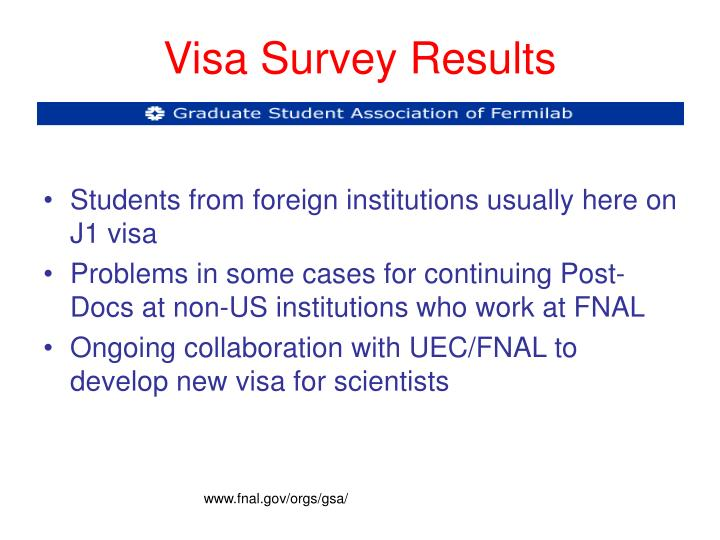Visa Survey Results