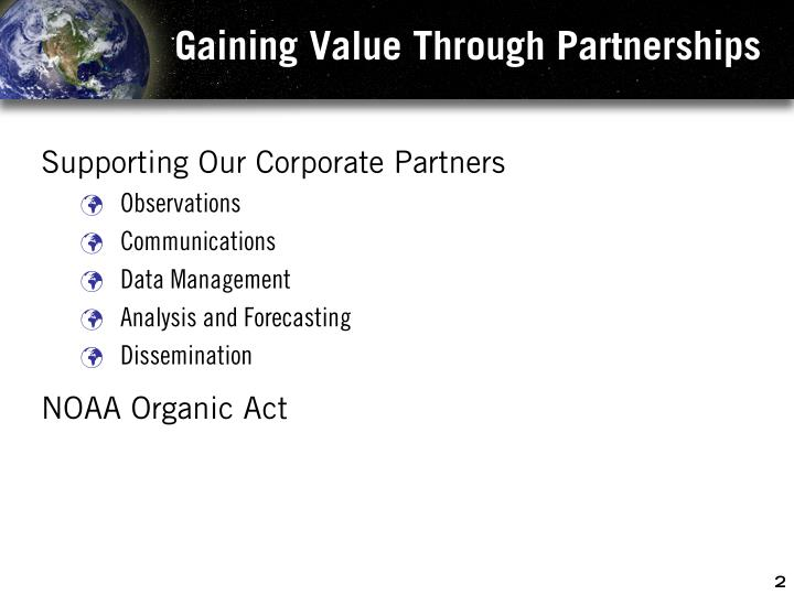 Gaining value through partnerships1