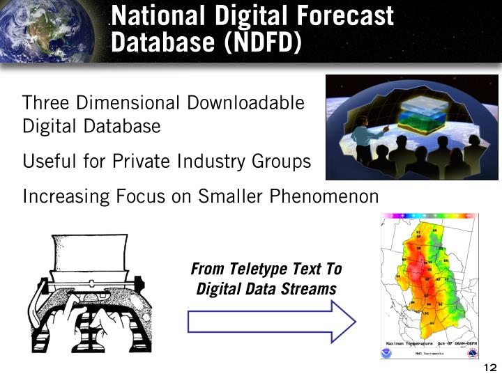 National Digital Forecast Database (NDFD)