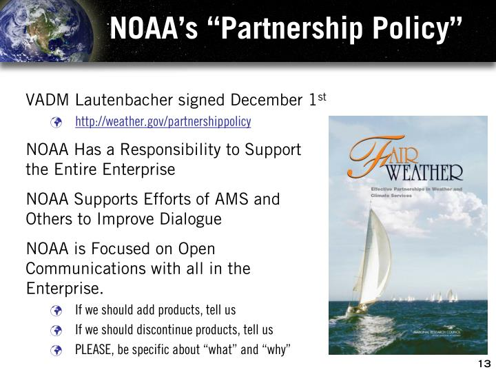 "NOAA's ""Partnership Policy"""