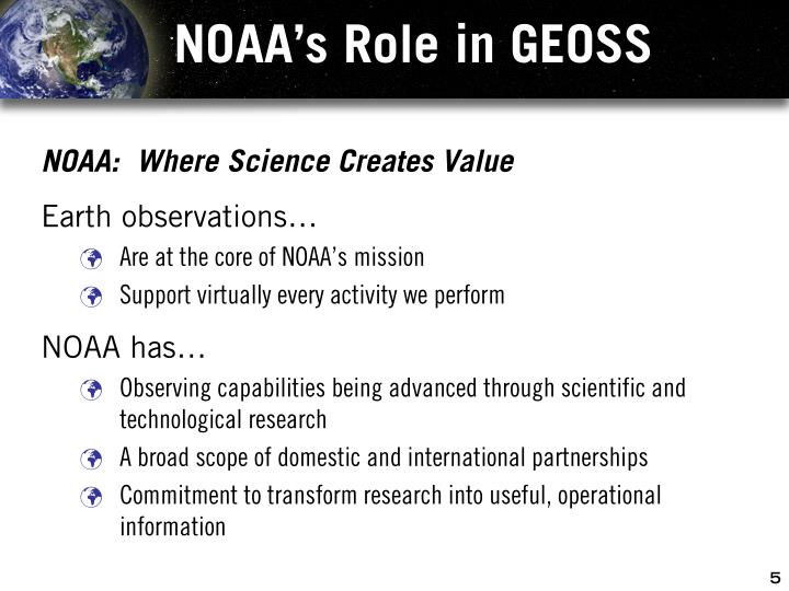 NOAA's Role in GEOSS