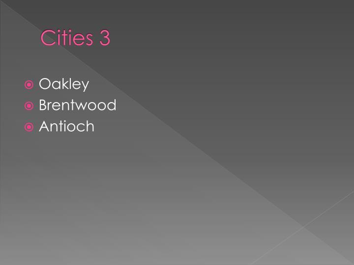 Cities 3