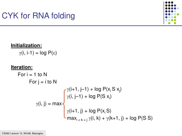 CYK for RNA folding