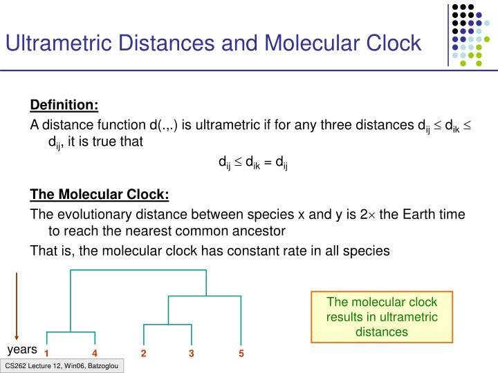 Ultrametric Distances and Molecular Clock