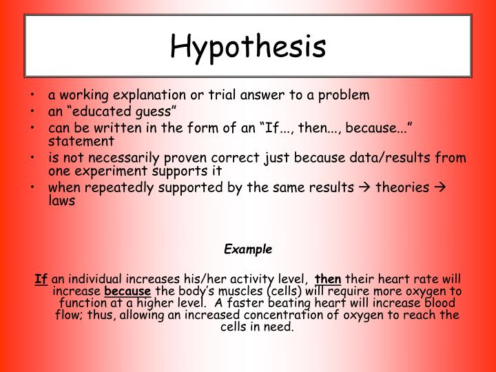 Hypotheses - definition of hypotheses by The Free