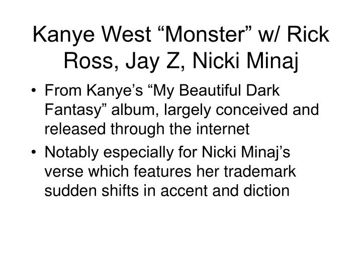 "Kanye West ""Monster"" w/ Rick Ross, Jay Z, Nicki Minaj"