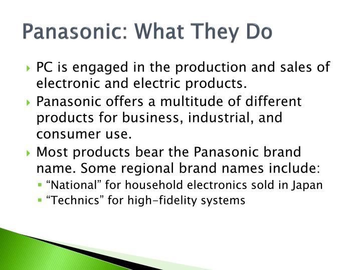 Panasonic: What They Do