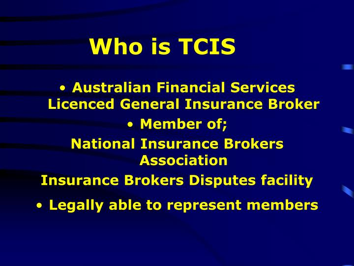 Who is tcis