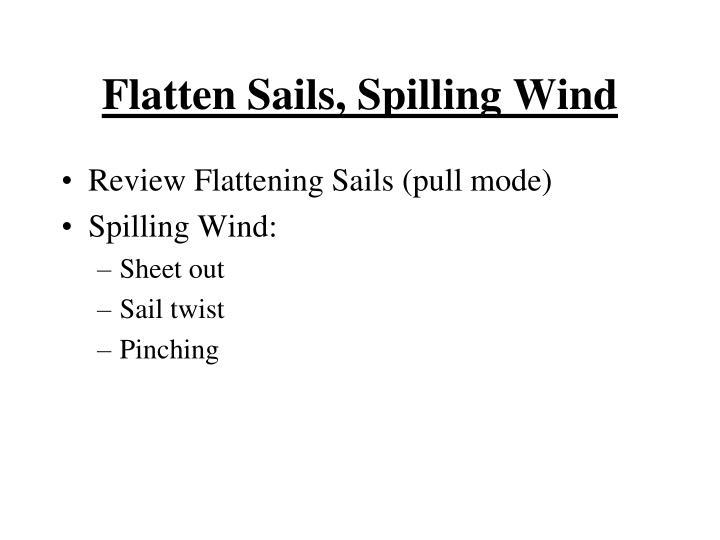 Flatten Sails, Spilling Wind