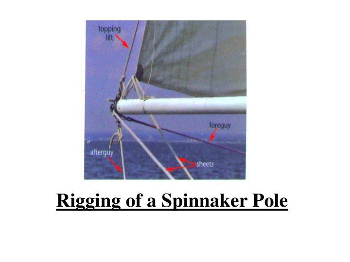 Rigging of a Spinnaker Pole