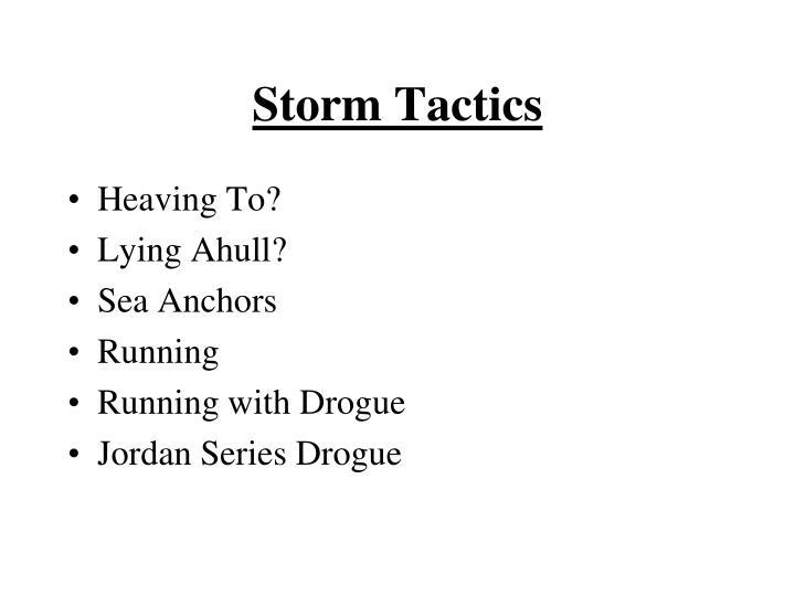 Storm Tactics