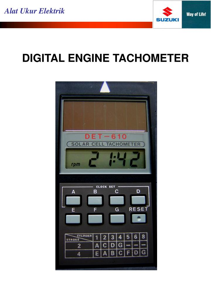 DIGITAL ENGINE TACHOMETER