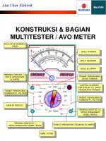 konstruksi bagian multitester avo meter
