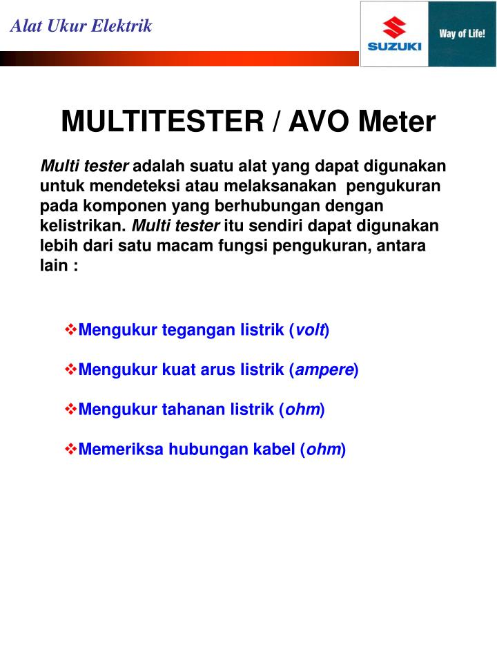 Multitester avo meter