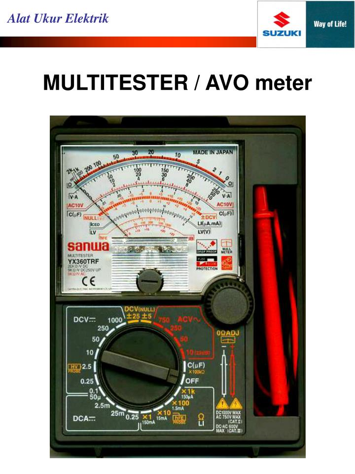 Multitester avo meter1