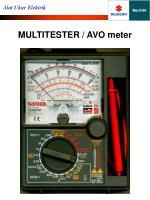 multitester avo meter1