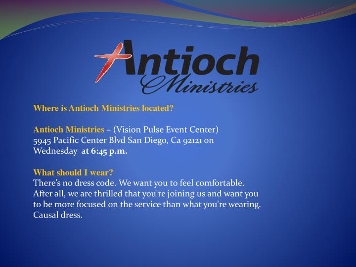 Where is Antioch Ministries located?