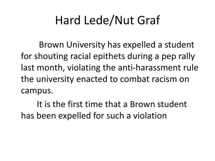 Hard Lede/Nut Graf