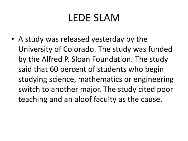 LEDE SLAM