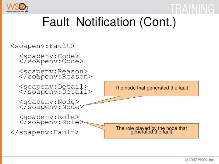Fault  Notification (Cont.)