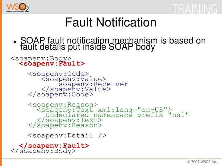 Fault Notification