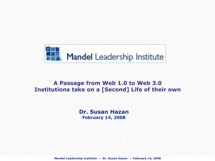 A Passage from Web 1.0 to Web 3.0