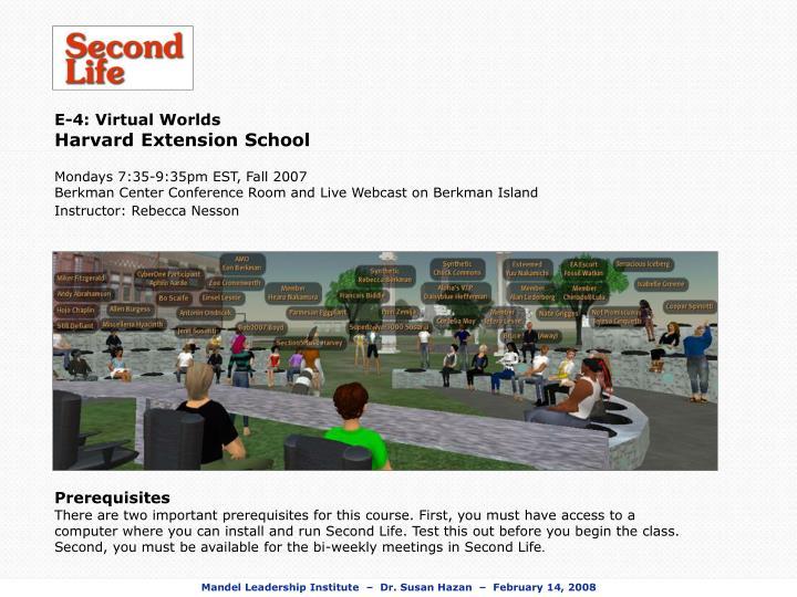 E-4: Virtual Worlds