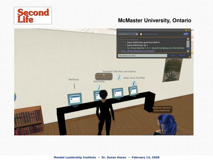 McMaster University, Ontario