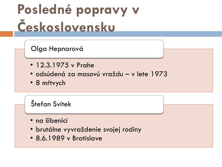 Posledné popravy v Československu